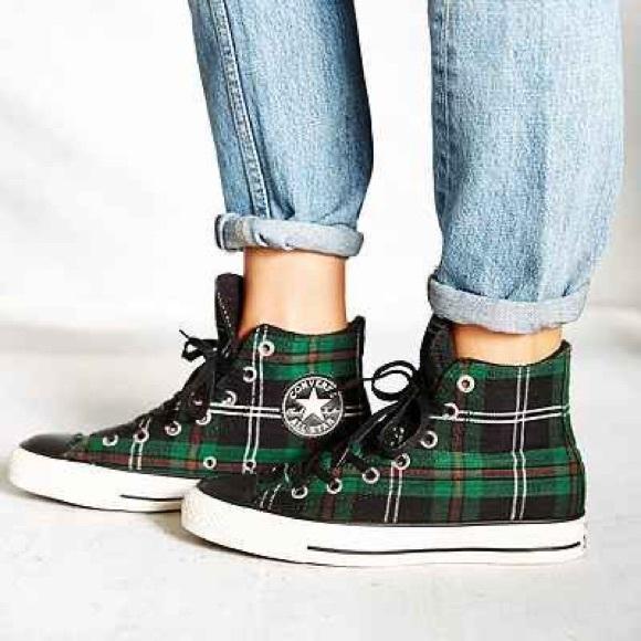 Converse Shoes | Like New Plaid Fleece